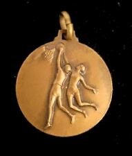 Vintage Bronze First Place Basketball Charm Pendant 1968