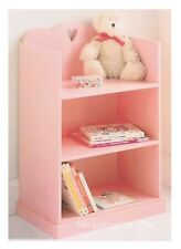 KIDS GIRLS AMELIA FRENCH STYLE PINK BOOKCASE DVD CD TOY FILE BOOK STORAGE UNIT