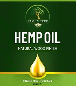 Family Tree Hemp Oil Wood Finish - Solvent Free - Furniture, Wooden Work Top