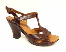 BORN Crown Chocolate Brown Sandals Size 9 Heels or Shoes