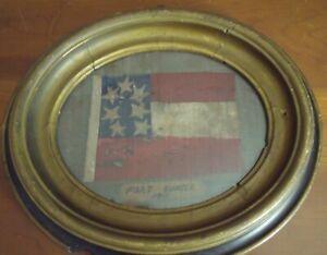 """PAUL NICKEL""""WELSH"""" (AMER.1948-2008):""""Ft Sumter 1861"""" Mixed Media Folk Art Framed"""