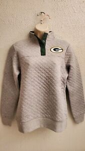 Green Bay Packers 1/4 Button Up Womens Pullover Size Small