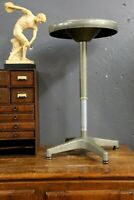 Vintage Ajusto Adjustable Metal Stool Gray Industrial Chair Drafting Table seat