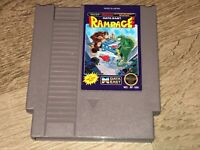 Rampage Nintendo Nes Cleaned & Tested Authentic