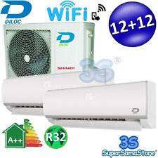 3S CLIMATIZZATORE DUAL SPLIT 12+12 DILOC SMART WIFI COMPRESSORE SHARP INVERTER