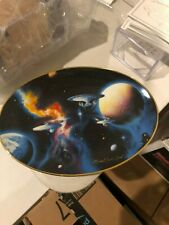 """Star Trek """"To Boldly Go"""" Space The Final Frontier Limited Collectors Plate SICK"""