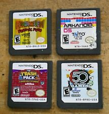 lot 4 nintendo ds 50 classic games; the trash pack; arkanoid ds taito;heathcliff