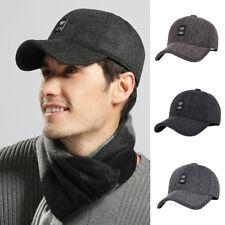LC_ CASUAL SNAPBACK MEN BASEBALL CAP DAD EARFLAPS CASQUETTE WARM WINTER HAT AL