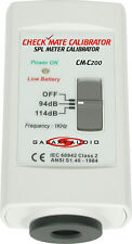 Galaxy Audio CM-C200 Check Mate SPL Meter Calibrator With 9 Volts Battery New