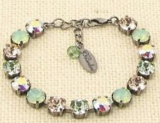 MINT GREEN Cup Chain Bracelet made w/ Swarovski Crystals GREEN CRYSTAL BRACELET