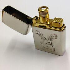 Vintage Chrome Eagle Double Flame Butane Cigarette Lighter.