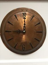 Antique Hammered Copper Battery Powered Wall Clock