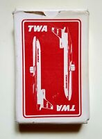 Vintage TWA Trans World Airlines Playing Cards Western Publishing Co Free Shipp