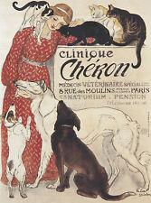 Clinique Cheron Theophile Alexandre Steinlen Vintage Dog Print Poster 16x20