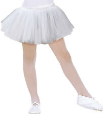 Kinder Ballerina Tutu weiß NEU - Mädchen Karneval Fasching Verkleidung Kostüm