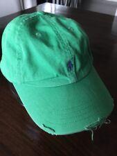 Ralph Lauren Baseballkappe 8-20 Jahre Sonnenkappe Grün Destroyed Used Look Neu N