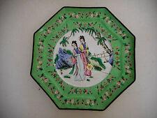 Grand plat ancien en émail de Canton,Chine,XIX°.Vase,assiette émaillée.Porcelain