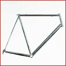 "NOS CHROMED ROAD RACING BIKE STEEL FRAME VINTAGE 62 TIG NEW 90s 1"" CLASSIC OLD"