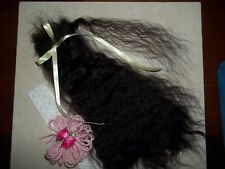 """* SOFT BLACK""""~VERY CURLY **12in**FOR REBORN~SILKY~1/2 OZ~YEARLING ANGORA MOHAIR"""