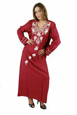Bodenlange Damenkleider mit V-Ausschnitt aus Baumwolle