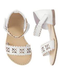 NWT Gymboree Baby Toddler Girl PRETTY POPPY White Sandal Shoes