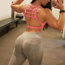 Mujer Push Up Leggings Pantalones Fitness Transpirable Gimnasio Yoga Deporte Fit