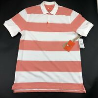 Nike Mens The Nike Polo White Pink Striped Polo Medium NEW