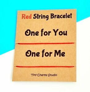 Set Of 2 Red String Kabbalah Cord Bracelet Protection unisex Bracelet Birthday