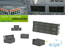 BOEING 737 UPPER OVERHEAD INDICATOR ANNUNCIATOR FULL ASSEMBLED SET REPLICA