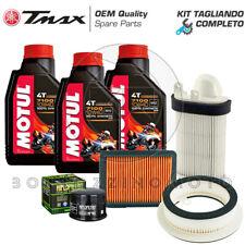 KIT TAGLIANDO YAMAHA T-MAX TMAX 500 2008-2011 FILTRO ARIA/OLIO MOTUL 7100 10w40