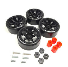 4PCS 1/10 RC Rims Speed Racing Car Tires Drifting Wheel Modified Parts Black