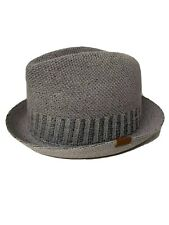 Kangol Spine Stripe Player Fedora Knitted Hat Cap Grey Classic New Sz Large L