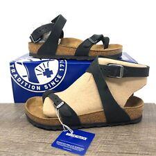 Birkenstock Yara Black Oiled Leather Sandals Women's Size 39 (US 8-8.5) NWB