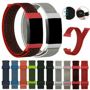 Woven Canvas Nylon Wristband Sport Strap Watch Band For fitbit charge3 charge4