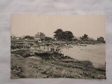 Ancienne carte postale de Quiberon Port Haliguen plage des émigrés