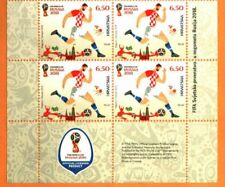 CROATIA 2018 FIFA WORLD CUP FINAL IN RUSSIA BLOCK w/LOGO MNH