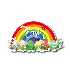 Easter stickers support NHS and keyworkers - easter decoration