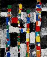 ALEXANDRE PONS/Abstrait contemporain pièce unique format 50 X 61 CM