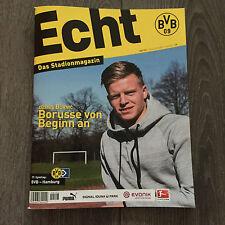 BVB@ BORUSSIA DORTMUND@Stadionmagazin ECHT@Heft Nr. 123@BVB-HSV@Burnic