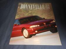 1992 Pontiac Bonneville Launch Original Color Brochure Prospekt