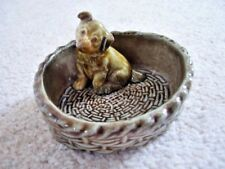 Wade Whimsies collectable animal figure  ,puppy-dog in a basket