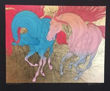 "GUILLAUME AZOULAY ""ENCOUNTER REPRISE"" H/C 2/20 SERIGRAPH ON PAPER H/SIGNED COA"