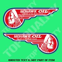 VINTAGE MOHAWK ROAD CHIEFS OIL Decal Sticker Vintage Americana Garage Stickers