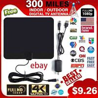 3M Coax Cable Black ZANLION HDTV Cable Antenna 4K,Amplified HD Digital Indoor TV Antenna with HD1080P Free Local Channels Support All Television