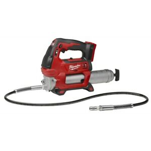 "Milwaukee 2646-20 M18 REDLITHIUM 2-Speed Grease Gun Cordless with 48"" Flex Hose"