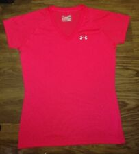 WOMENS (S) SUPER CUTE- SOFT- UNDER ARMOUR- SEMI FITTED- HEATGEAR- ATHLETIC TOP