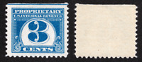 US REVENUE PROPRIETARY TAX STAMP SCOTT RB67 - 3 CENT ISSUE - MNH OG