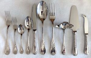 """GUY DEGRENNE Set of Three 7/"""" Soup Spoon Stainless Flatware G2"""