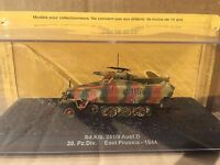 "DIE CAST TANK "" SD. KFZ. 251/9 AUSF D 20. PZ.DIV. EAST PRUSSIA 1944"" SCALE 1/72"