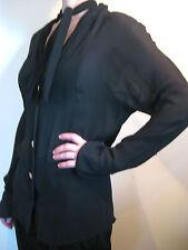 Karl Lagerfeld Size 38 or 8 Black Sheer Evening Blouse